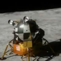 3d animation of the Apollo lunar landing module.