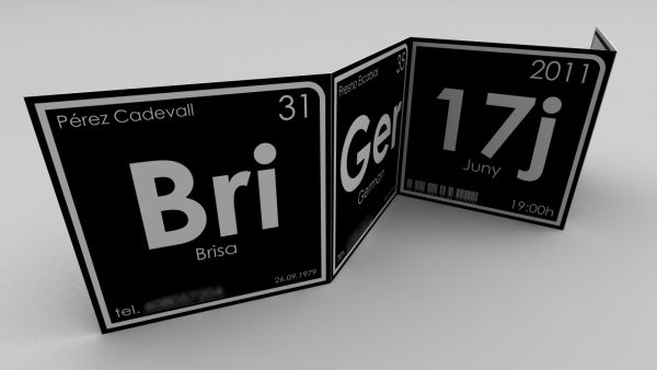 Brisa Wedding Cards. Photobooth / Periodic Table