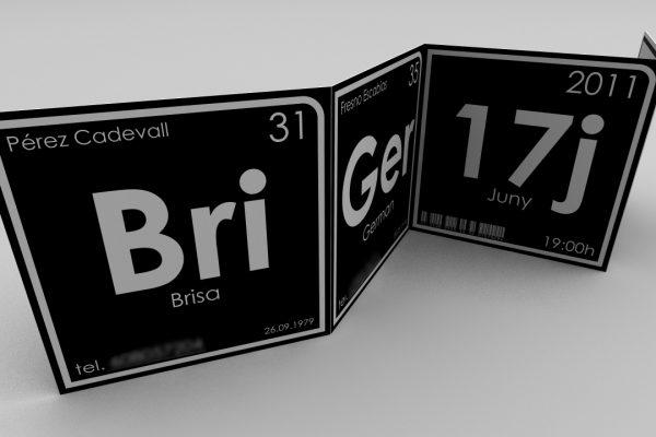 Brisa Wedding Cards. Photobooth / Periodic Table
